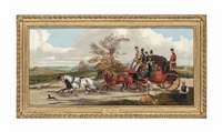 the royal mail coach, york to london by samuel henry alken