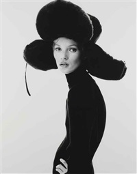 girl with hat (kate moss) by steven klein
