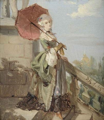 femme avec parasol by david joseph bles