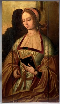 sans titre (saint barbara?) by master of saint sang