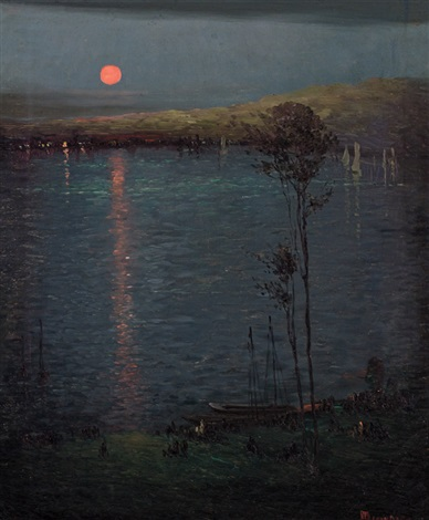 moon on the lake by leon dabo