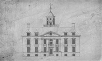 design for a country house with ogee dome by robert hooke