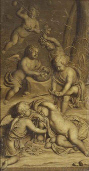 an allegory of the four seasons by hieronymus van der mij