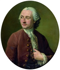 portrait d'homme en buste à la veste lie de vin by pierre allais