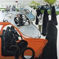 women in cars by rokni haerizadeh