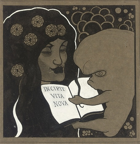 incipit vita nova here begins a new life by aubrey vincent beardsley