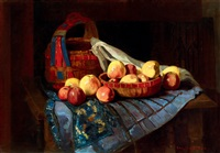 still-life with apples by adelina katona madarasz