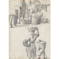 peasants at the market by johannes lingelbach