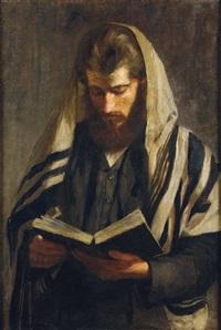 jeune rabbin en prière by irene hilberth