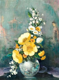 still life with yellow flowers by le pho