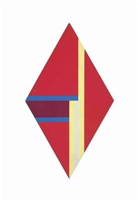 rhomb in red, yellow and blue by ilya bolotowsky