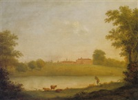 prospect of braxted park, essex by william woodall