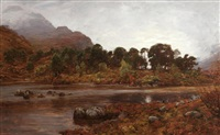 loch clair, glen torridon by alexander brownlie docharty