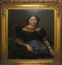 portret van een dame by jean-baptiste fresez