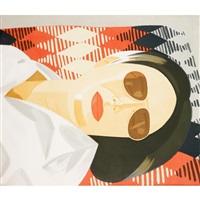 reclining figure/indian blanket by alex katz