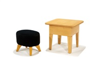stool and table (pair) by roy mcmakin