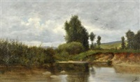 les bords du fiers à rumilly by horace-antoine fonville