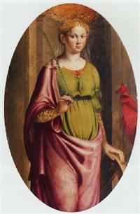 saint catherine by innocenzo di pietro (da imola) francucci