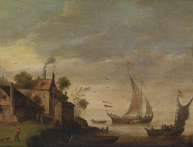 segelschiffe vor der küste by thomas van apshoven