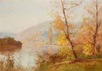 paysage de forêt by marie-victor-emile isenbart