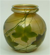 bulbous vase by louis comfort tiffany