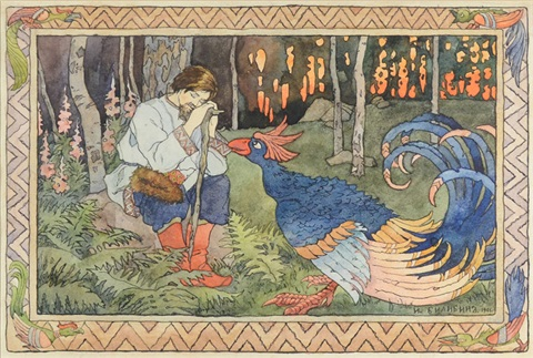 illustration for a russian fairy tale by ivan yakovlevich bilibin