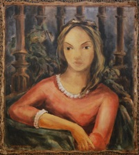 portrait of a young woman by victor manuel