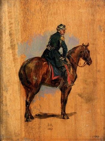 militaire à cheval vu de dos by jean louis ernest meissonier