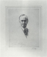 portrait of calvin coolidge by dwight case sturges