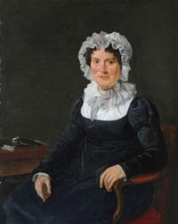 portrait d'une dame bourgeoise by jan adriaan antonie de lelie