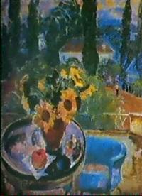 fleurs sur la veranda by nikolai ieremeev