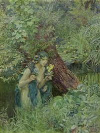with goodly greenish locks, all loose untied by eleanor fortescue-brickdale
