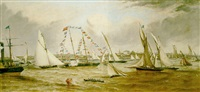 the grand regatta of the royal mersey yacht club, july 19th 1853 - the