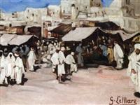 scène de marché by georges lemare