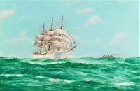 "the ship ""seven seas"" under way by john arnold"
