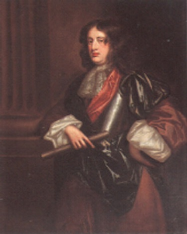 portrait of a gentleman beside a column wearing armor by john hayls