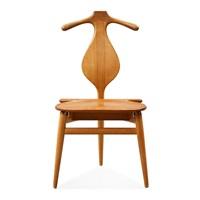 a hans j wegner 'jakkens hvile' teak chair by hans j. wegner