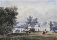 trowse bridge on the river wensum near norwich by robert leman