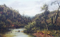 waitakere creek by albert edward aldis