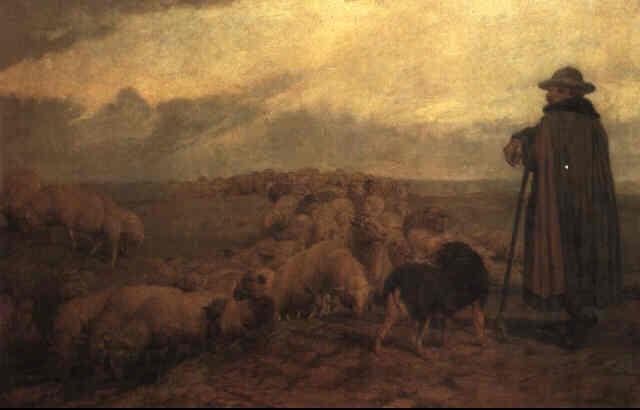 schafer mit seiner herde by wilhelm altheim