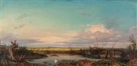 puszta-landschaft mit fischer by raffalt