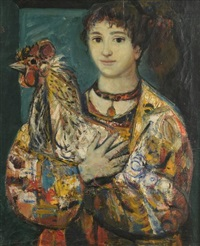 femme et le coq by walter spitzer