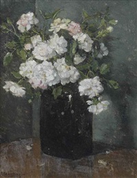 roosjes; roses in a jar by johannes evert hendrik akkeringa