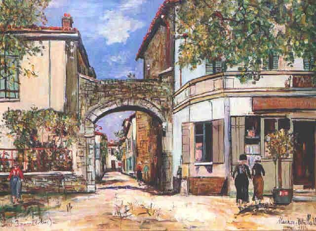 Le bureau de tabac à saint bernard by maurice utrillo on artnet