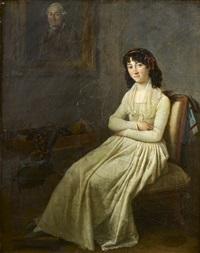portrait de jeune femme assise dans un intérieur by marguerite gérard
