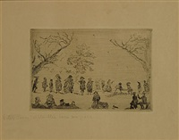bijeenkomst in een park by james ensor