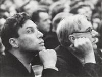 boris pasternak and kornei chukovsky at the soviet writers' congress by boris ignatovich