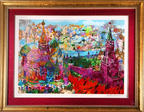 red square panorama by leroy neiman