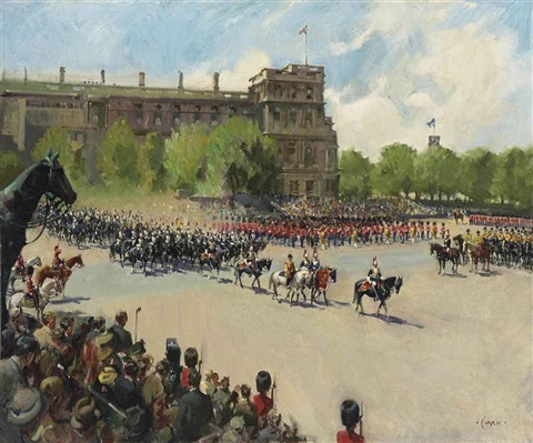 trooping the colour by terence cuneo