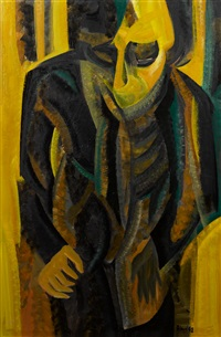 untitled, abstract figure by john aland